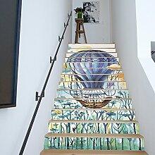 MIAORUI kinderzimmer, kreative dekoration, aquarell, heißluftballon, 13 stücke, terrasse, wohnzimmer, treppe, renovierten tapete