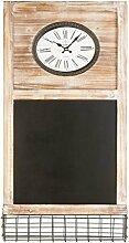 miaVILLA Memoboard mit Uhr - Kreidetafel Vintage -
