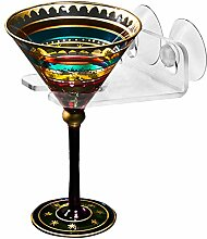 mibow Badewanne & Dusche Weinglas Halter farblos