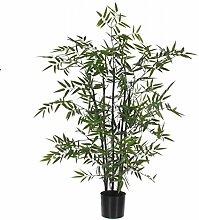 Mica decorations 987835-T Kunstblume -und Pflanze, Bambus mit schwarzen Stämmen Höhe 100 cm im Kunststofftopf