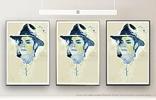 Michael Jackson I 90x60cm auf Masterclass Metallic