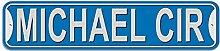 Michael Schild–Kunststoff Wand Tür Street Road Stecker Name, plastik, blau, Kreis