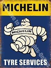 Michelin Mann Reifen Dienstleistungen Auto VINTAGE GARAGE Metall/Stahl Wandschild - 30 x 20 cm