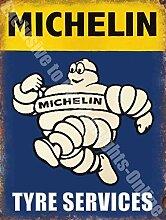 Michelin Mann Reifen Services Auto Vintage Garage Wandschild aus Metall/Stahl, stahl, 30 x 40 cm