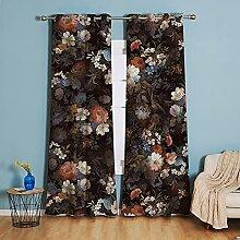 Michorinee Blumen Vorhang Blickdicht Gardinen mit