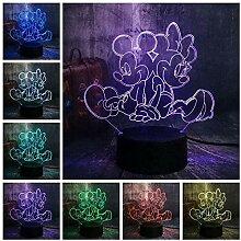 Mickey 3D Nachtlicht LED Schlafzimmer Dekoration