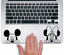 Mickey and Minnie TRACKPAD Sticker Aufkleber Boo (Schwarz)