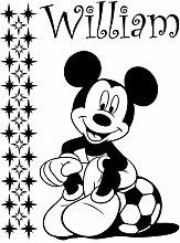 Mickey Maus mit Ihrem gewählten Namen und Set von 29stars 60cm x 45cm Farbe Wählen 18Farben auf Lager Kinder Disney, jeder Name, personalisierbar, Name, Schlafzimmer, Kinder Zimmer Aufkleber, Auto Vinyl-, Windows und Wandtattoo, Wall Windows Art, Decals, Ornament Vinyl Aufkleber von 4printer schwarz