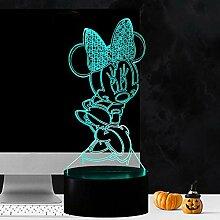 Mickey Minnie Mouse Lampe für Kinderzimmer,