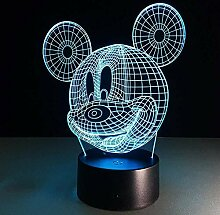 Mickey mouse 3d farbwechsel licht lampe kinder