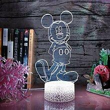 Mickey Mouse 3D Nachtlicht Lampe Mickey Nachtlicht