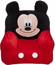 Mickey Mouse aufblasbarer Sessel (Rot/Schwarz)