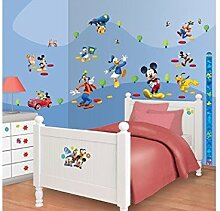 Mickey Mouse - Disney© - Wandsticker - Walltastic© (Wandsticker Wanddekoration Wohndeko Wohnzimmer Kinderzimmer Schlafzimmer Wand Aufkleber)