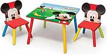 Mickey Mouse Kleiner Tisch und Stühle (Rot)