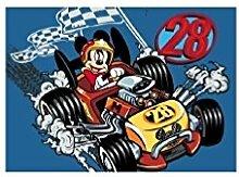 Mickey Mouse - Micky Maus - Auto - Rennauto -
