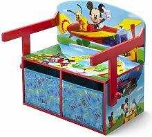 Mickey Mouse Sitzbank & Schreibtisch mit Stauraum (Blau/Rot)