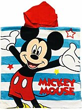 MICKEYMOUSE Mickey Mouse Kinder-Poncho-Handtuch