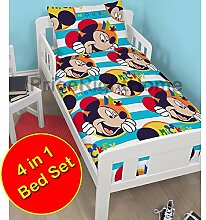 Micky Maus Boo 4 in 1 Junior Bettwäsche Bundle