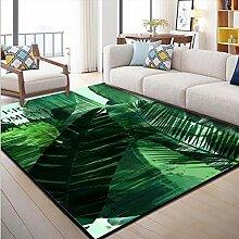 MICOKY Teppich 3D Sommer Waschteppich Wohnzimmer