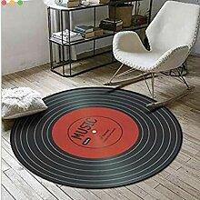 MICOKY Teppich, rund, für Schlafzimmer,
