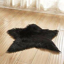 MICOKY Teppich, rund, Plüsch, für Wohnzimmer,