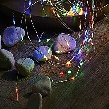 Micro LED Batterie Lichterkette mit Timer Lichtdraht 40 Lichter warm weiß Indoor, Auswahl:bun