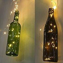 Micro LED Batterie Lichterkette mit Timer Lichtdraht 46 Lichter warm weiß indoor