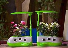 Micro wachsen Licht Garten automatische Pflanze Wachstum Maschine Desktop elektronischen Blumentopf Cartoon kleine Raumfahrzeug Macht 8W Größe 307 * 172 * 295-498mm