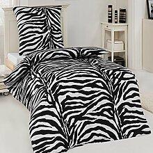 Microfaser Bettwäsche Garnitur Zebra African
