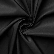 Microfaser Fahnenstoff Stoff Meterware (schwarz)