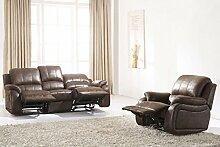 Microfaser Relax Schlafsofa Sofa Fernseh Sessel 5129-3+1-VF03 sofor