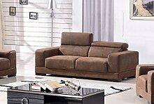 Microfaser Sofa 3-Sitzer Mikrofasersofa Dreisitzer Couch 2017-3-VF03