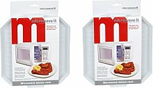 Microwave It Mikrowellen 2 x Kunststoff, Bacon