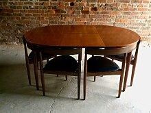 Mid-Century Esstisch und 6 Stühle von Hans Olsen