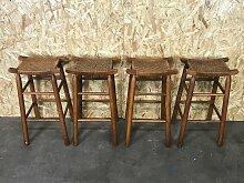 Mid-Century Holz & Kunststoff Barhocker, 4er Set