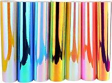Mifengda 7 Bögen holografischer Opal Craft Vinyl