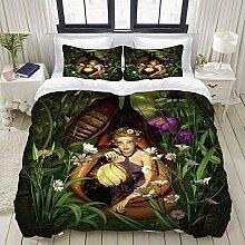 MIGAGA Bedding Bettwäsche-Set,Mädchen-Elfe mit