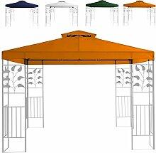 Miganeo Ersatzdach 3x3 m Partyzelt Gazebo Pavillion Dach Pavillon Pavilliondach weiss, blau, grün, orange (Orange)