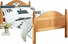 MIGUEL Landhaus Bett Bettgestell Doppelbett 160x200 Kiefer Schlafzimmer Massivholz Naturmöbel Echtholzmöbel günstig gebeizt geöl
