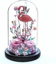 MIGUOR Kunstharz Flamingo und Erhalten Fresh Rose