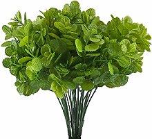 MIHOUNION 4 Pcs Plastik Pflanze künstliche