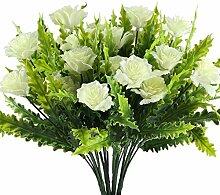 MIHOUNION Künstliche Blumen 4 Stücke Pfingstrose