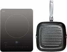 Miji Star3 G Cooking Pad grau - GRILL-EDITION inkl. Risoli Granito Grillpfanne