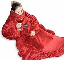 MikaMax - Snug Rug - Decke mit Ärmeln 215 x 150