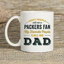 Mike21Browne Packers Mug Becher f¨¹r Papa