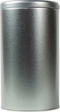 mikken - 1 x Kaffeedose / Teedose rund & luftdicht für 430g mit Stülpdeckel, Vorratsdose aus Weißblech (Silber) als Metall-, Gewürzdose & Tabakdose verwendbar (10 x 10 x 18 cm)