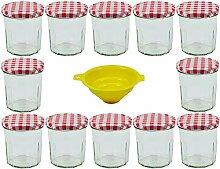 mikken 12 x Einmachglas 320 ml Marmeladenglas mit