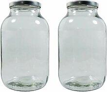 mikken 2X Einmachglas 2000ml mit