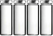 mikken 4 x Einmachglas 1 Liter, Glasflasche