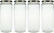 mikken 4er Set Vorratsglas 1,1 Liter mit